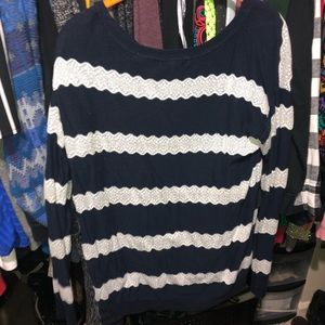 American eagle sweater size large navy